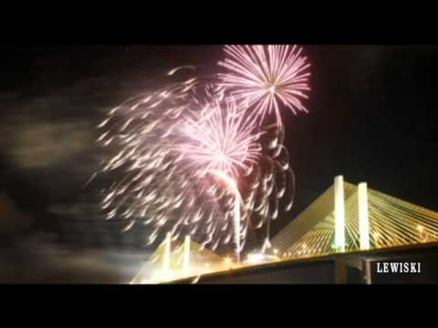 Reveillon 2012 na ponte Newton Navarro em Natal - RN.wmv
