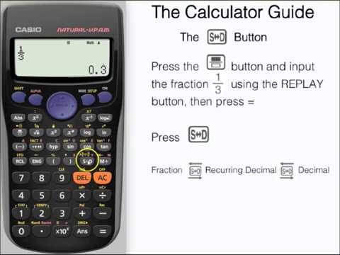 Change between fractions, decimals & surds (radicals) using SD ...