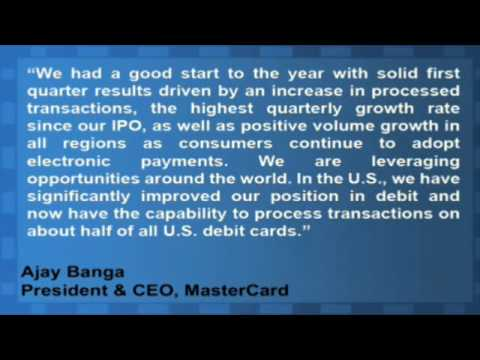 MasterCard Reports Higher Profits and Transaction Volume