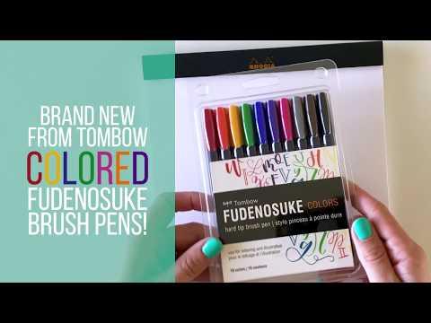 Honest Colored Tombow Fudenosuke Review - Amanda Arneill | Hand Lettering