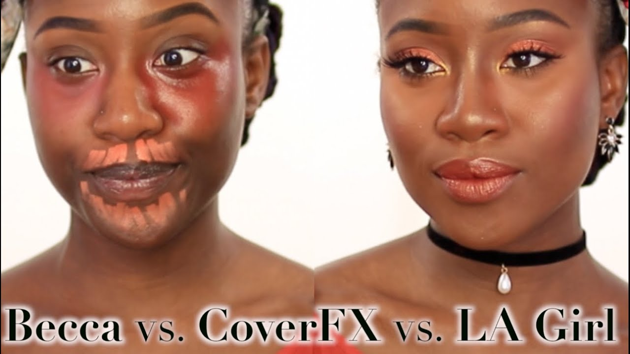 BECCA Vs. COVER FX Vs. LA GIRL  BATTLE Of The BRANDS | JASMINE ROSE Black Women Makeup Dark ...