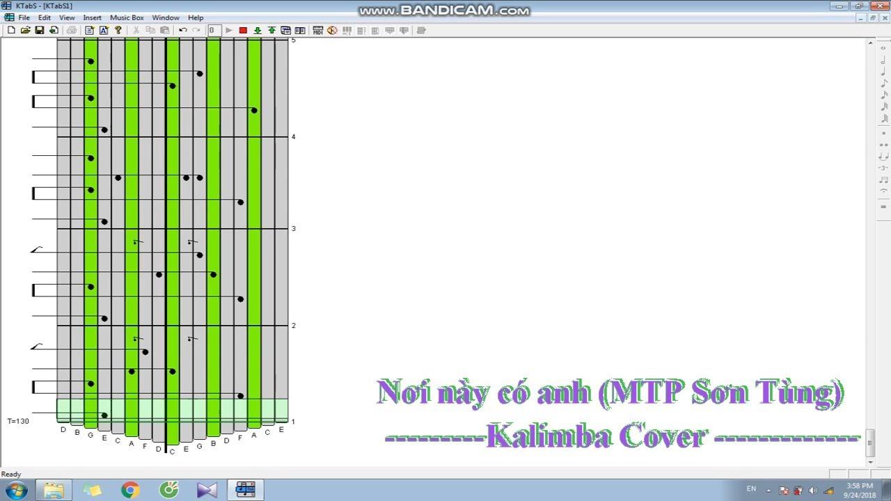 [Kalimba Tabs] Nơi này có anh(Sơn Tùng MTP)| Kalimba Cover #1