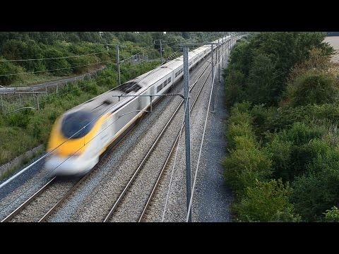 Eurostar With 300 Km/h Coming From London! [HD]
