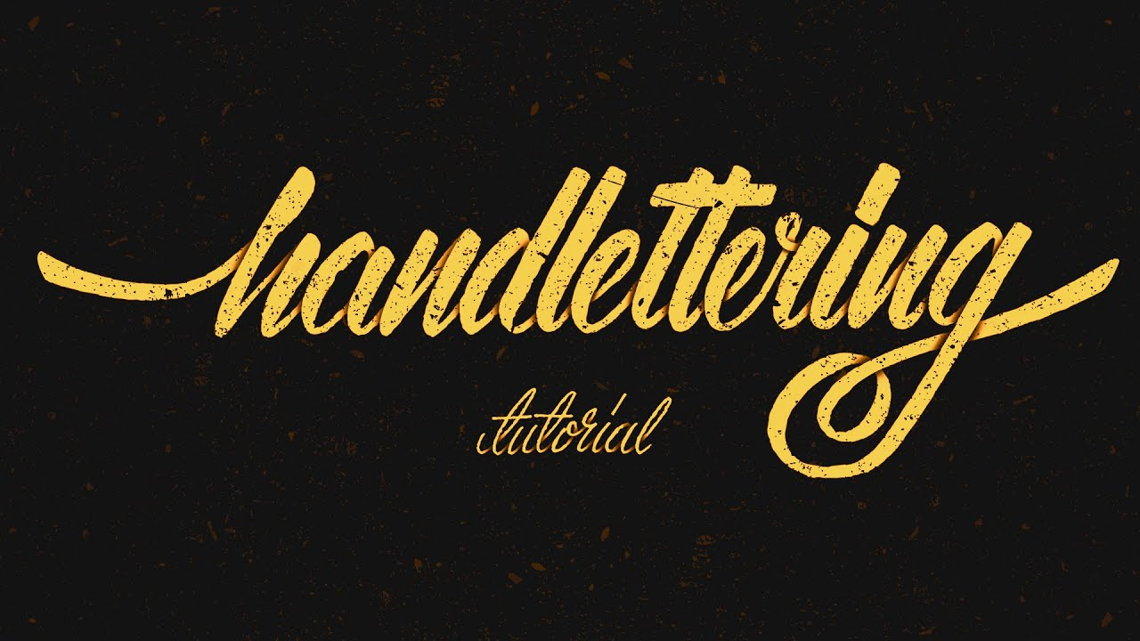 hand lettering tutorial for beginners
