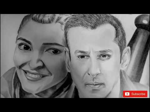 salman khan, anushka sharma drawing
