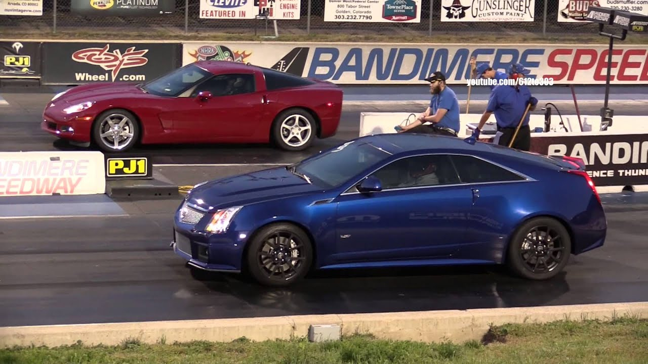 Chevy Corvette Vs Cadillac CTS V Coupe Drag Race