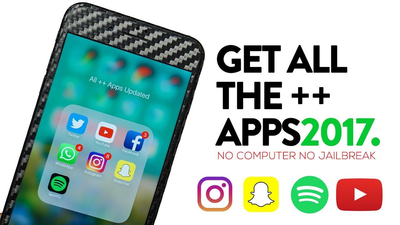 Install Tweaked ++ Apps FREE iOS 9 / 10 - 10 3 2 NO Jailbreak NO PC April  2017