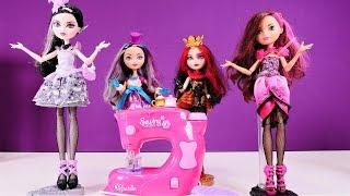 Die Ever After High Mädchen gehen auf die Modenschau. Spielzeugvideo für Kinder.