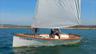 Goat Island Skiffs sailing on Mission Bay