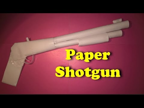 How to make a Paper Shotgun | Paper Weapon