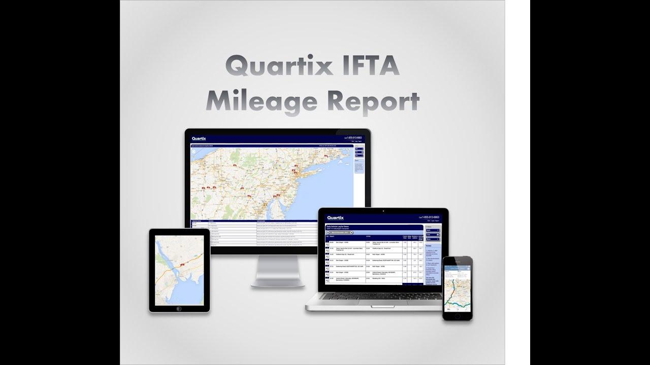 quartix us fleet tracking system ifta mileage reporting demo youtube