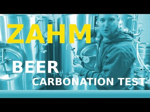 Beer Carbonation Test For Craft Brewery, Zahm Nagel!!