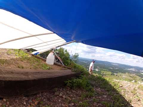 Hang Gliding launch from Mt. Trap overlooking Hot Springs