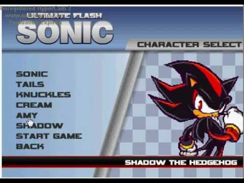 Cheat Para Obter Amy E Shadow/extras No Ultimate Flash Sonic
