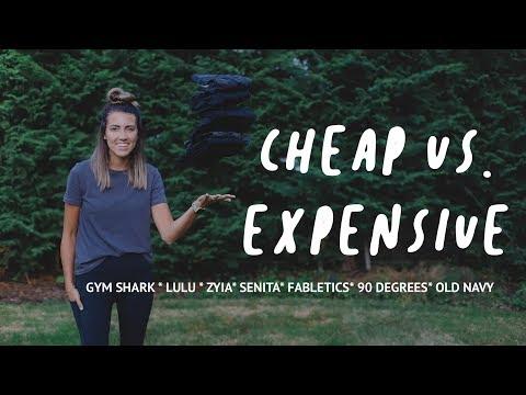 Cheap Vs Expensive Legging Haul || ZYIA* GYMSHARK* LULU* SENITA* 90 DEGREES* FABLETICS*