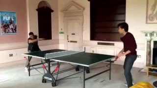 Akshay Kumar and Ritesh desmukh Playing table tennis in Housefull style