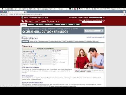 Using the Bureau of Labor Statistics k12 site