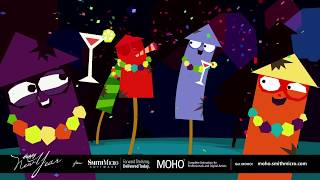 Happy New Year Moho Animated Digital Card