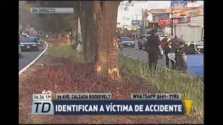 Video Identifican a víctima de accidente en Calzada Roosevelt download MP3, 3GP, MP4, WEBM, AVI, FLV Juni 2018