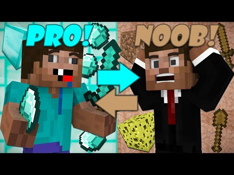 If Noobs and Pros Switched Places - Minecraft