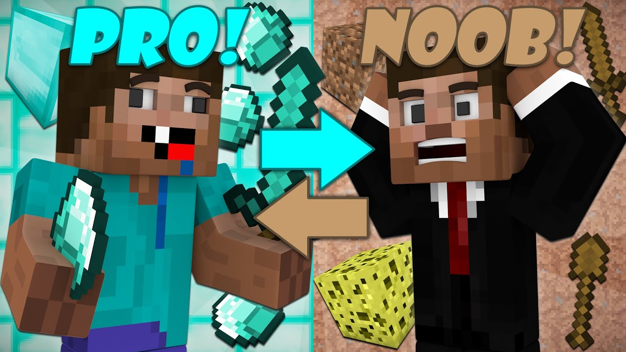 if noobs and pros switched places minecraft youtube