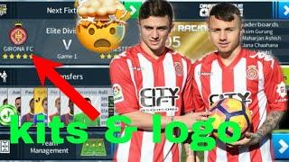 How to Create Girona FC Kits & Logo | Dream League Soccer 2018
