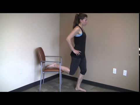 Standing Hip Flexor Stretch On Chair Youtube