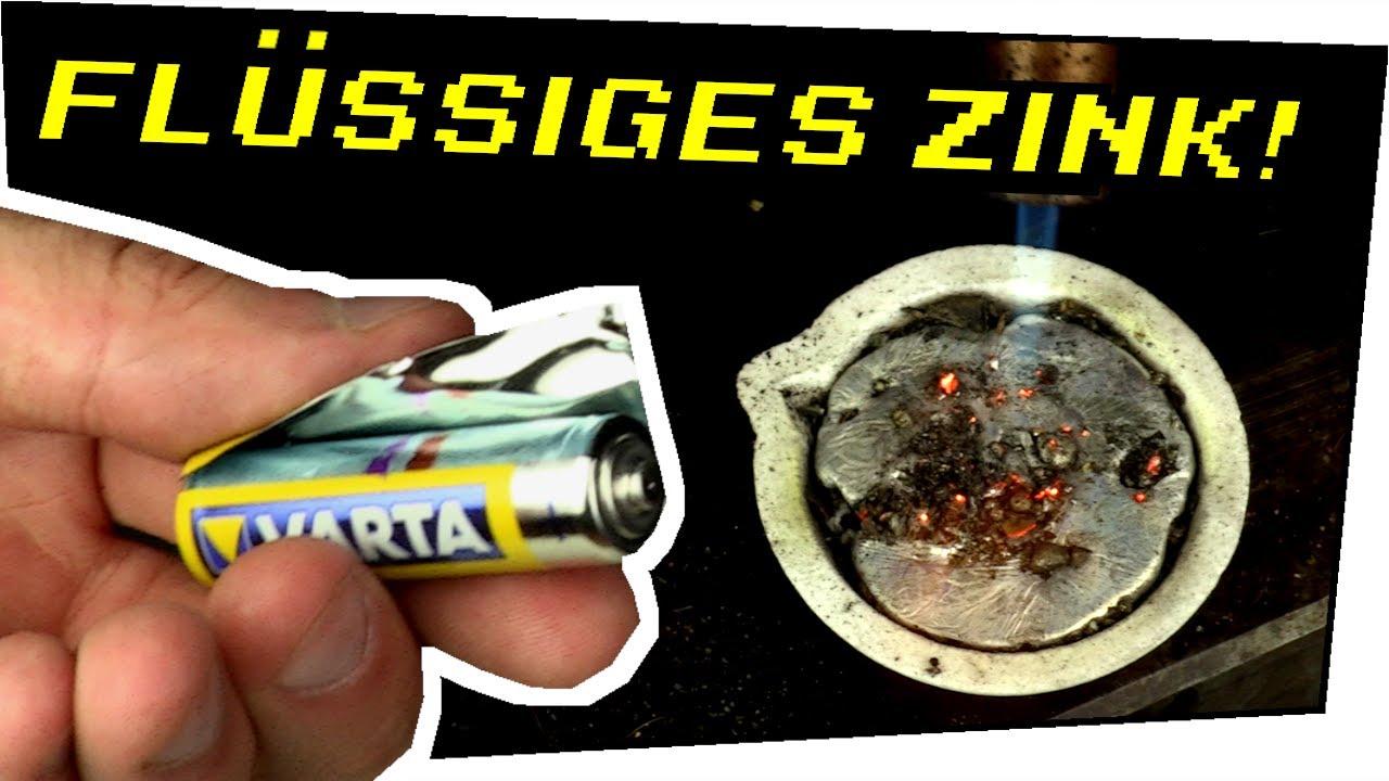 Zink aus Batterien gießen! - Gefährliche Experimente #149
