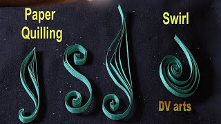 How To Make Paper Quilling Swirls