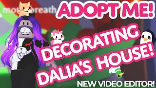 We Decorate Dalia's House 🏡 NEW TEAM MEMBER 📹Adopt Me! on Roblox