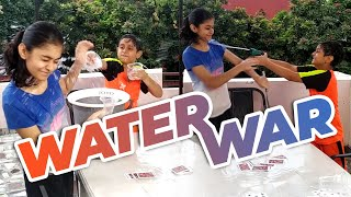 Water War - Brother VS Sister Fights #CuteFights #FunnyVideo
