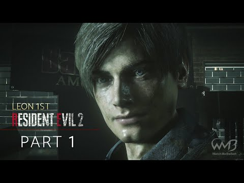 Resident Evil 2 Remake (Leon A) - R.P.D. / Birkin G1 Boss Fight / Sewer Entrance - Part 1 (HARDCORE)