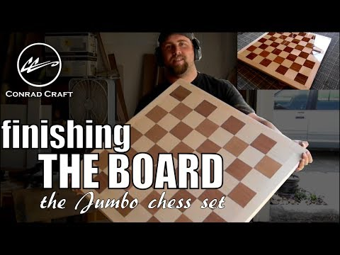 """Finishing the giant chess board: how to apply an epoxy """"bar top"""" finish to your next project. Conrad"""