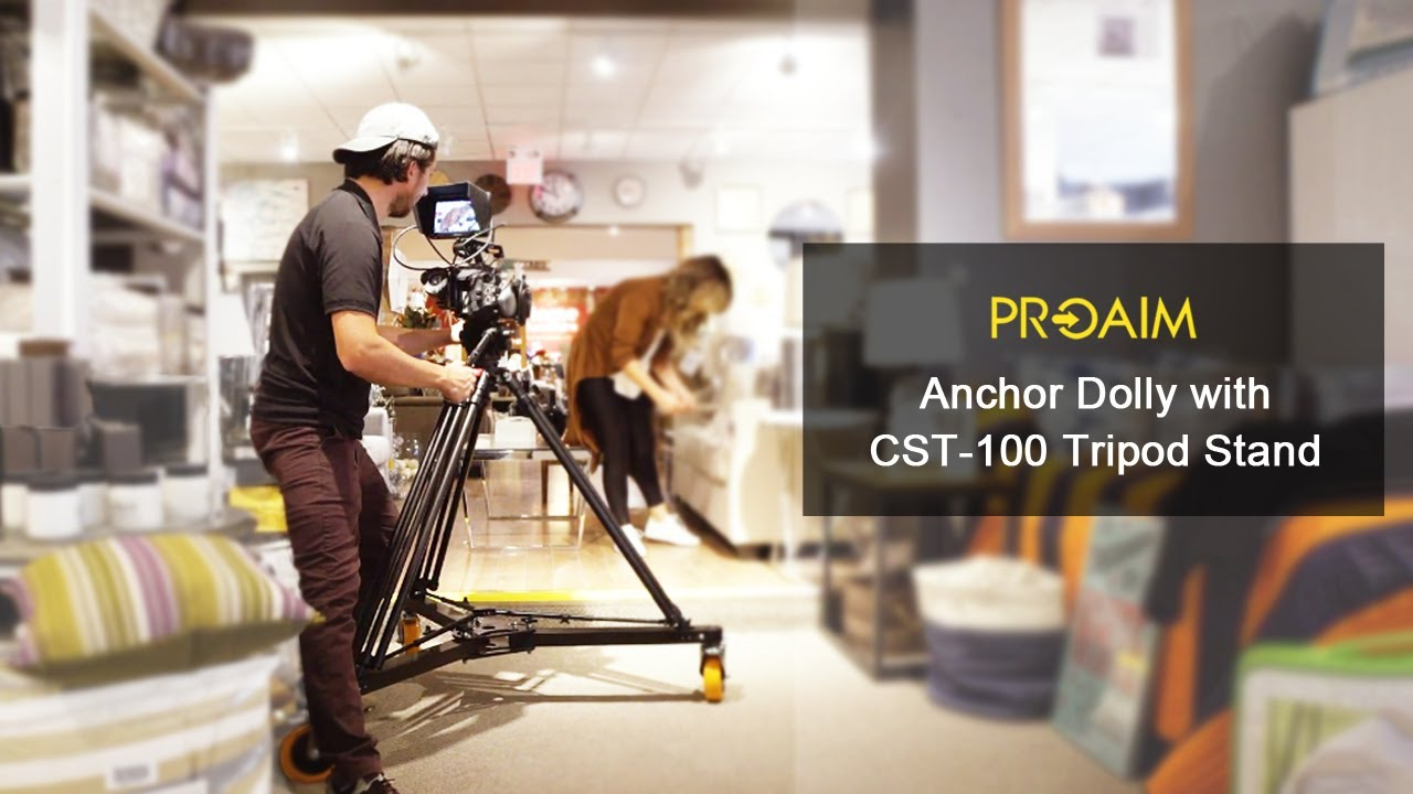 Professional Lightweight Aluminum Dolly for Film Studio Broadcast Movie Production PROAIM Anchor Heavy-duty Cinema Camera Floor Dolly For Heavy Tripods DL-ANCR-00 Jibs /& Cranes up to 500kg//1100lb