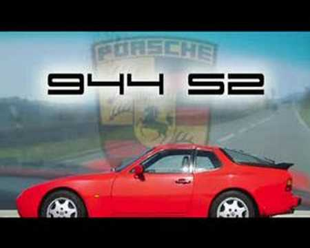 porsche 944 s2 on the road fast driving and overtaking. Black Bedroom Furniture Sets. Home Design Ideas