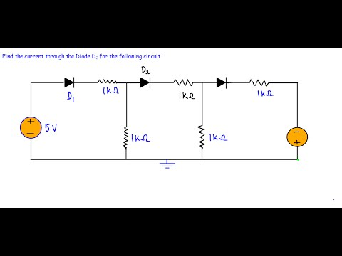Diode DC Circuit -Example 2 (Very Hard)