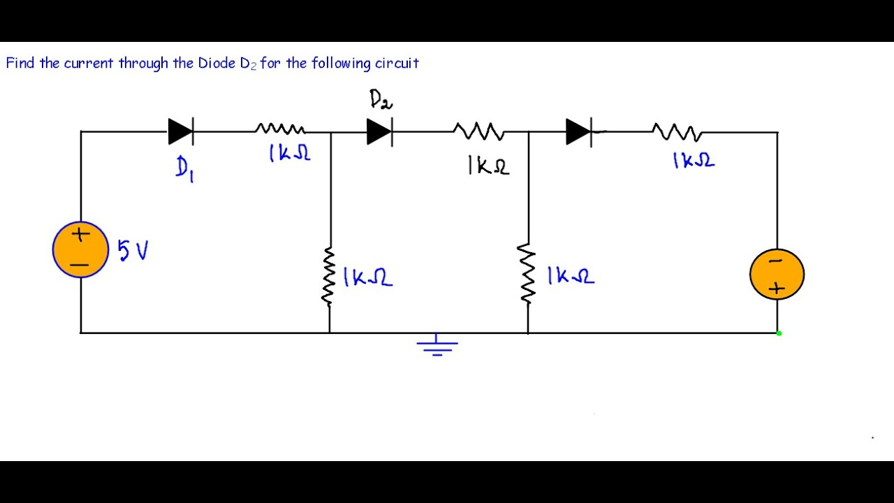 Diode DC Circuit -Example 2 (Very Hard) - YouTube