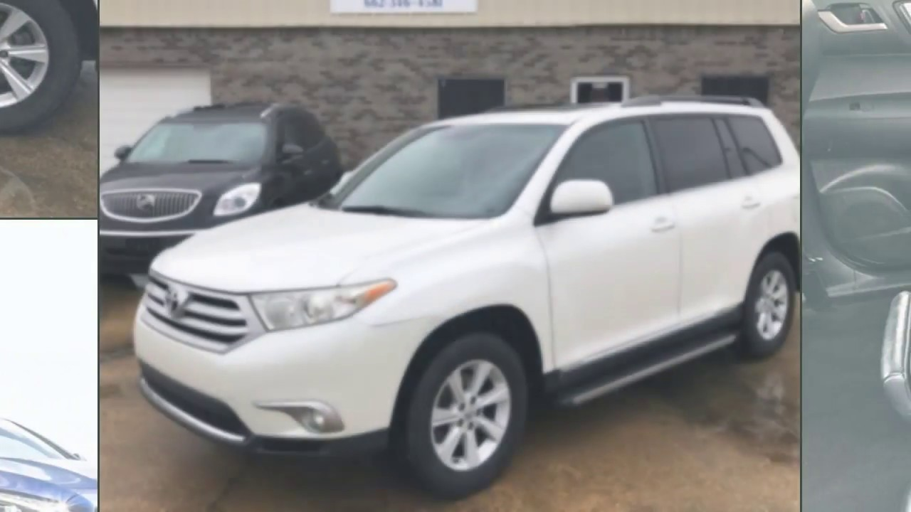 For Sale 2012 Pearl White Toyota Highlander Tupelo Ms