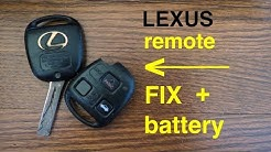 How to ● Lexus Key Fob Remote Keyless Battery Change/Replace and Broken Casing