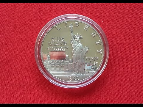 Silver Dollar 1986 STATUE OF LIBERTY CENTENNIAL - США Доллар