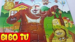 Đồ Chơi Xếp Hình Trẻ Em & Trò Chơi Ghép Hình Chú Gấu Boonie Cho Bé