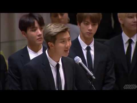 BTS Speech at the 73rd UN General Assembly Love yourself, speak yourself