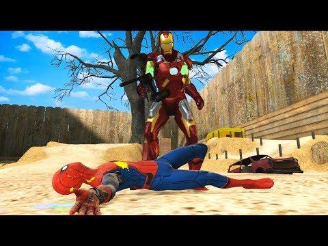 SUPER HERO PAINTBALL BATTLE! - Garrys Mod Gameplay (Gmod Roleplay) - Multiplayer Challenge!