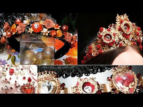 Ободок в стиле новой коллекции Дольче Габбана 2015 своими руками