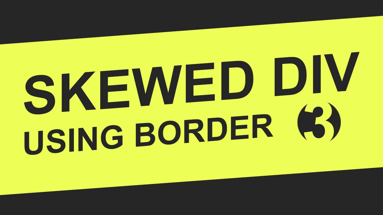 3 background images for a div - Skewed Background Using Border Html5 Css3 Tutorial