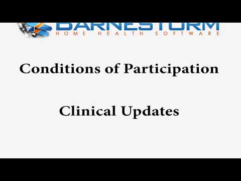 Clinical To-Do List in Barnestorm for Conditions of Participation