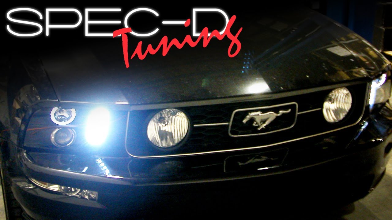maxresdefault specdtuning installation video 2005 2009 ford mustang halo led