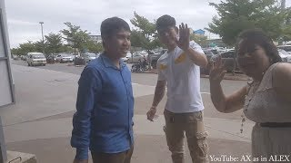 Airport Vlog: Cambodian Cousin (YouTuber) Go To America | AX as in Alex អាឡិច