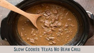 Slow Cooker Texas No Bean Chili
