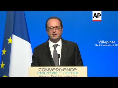 Outgoing French president speaks at future forum